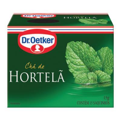 Chá de hortelã 15 envelopes Dr. Oetker caixa CX