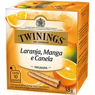 Chá de Laranja Manga e Canela 18g Twinings caixa CX