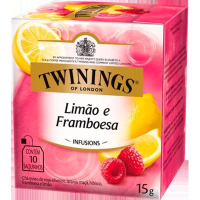 Chá de limão e framboesa 10 envelopes Twinings caixa CX