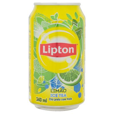 Chá de limão Ice Tea zero açúcar 340ml Lipton lata UN