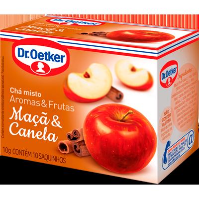 Chá de maçã e canela 15 envelopes Dr. Oetker caixa CX