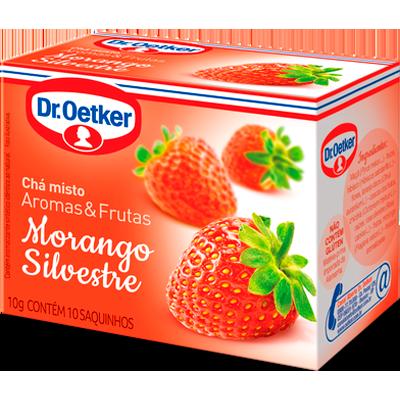Chá de morango 15 envelopes Dr. Oetker caixa CX