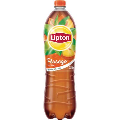 Chá de pêssego Ice Tea zero açúcar 1,5Litros Lipton pet UN
