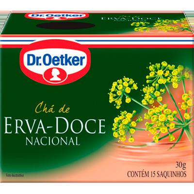Chá erva doce 15 envelopes Dr. Oetker caixa CX