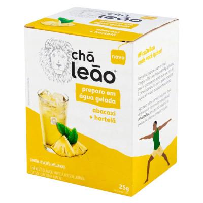 Chá Gelado de Abacaxi e Hortelã 25g Leão caixa CX