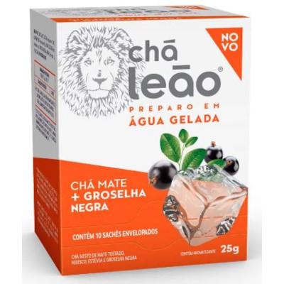 Chá Gelado de Groselha Negra 25g (10 sachês) Leão caixa UN
