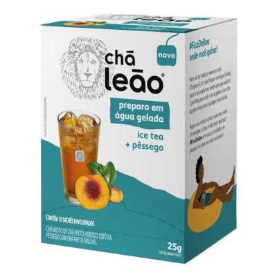 Chá Gelado Pêssego Ice Tea 25g (10 sachês) Leão caixa UN