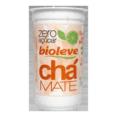 Chá mate com limão zero açúcar 290ml Bioleve copo UN