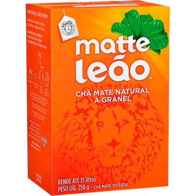 Chá Mate Natural a Granel 250g Leão caixa CX