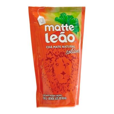 Chá mate natural solúvel 50g Leão sachê UN