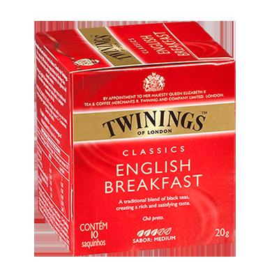 Chá preto 10 envelopes Twinings caixa CX