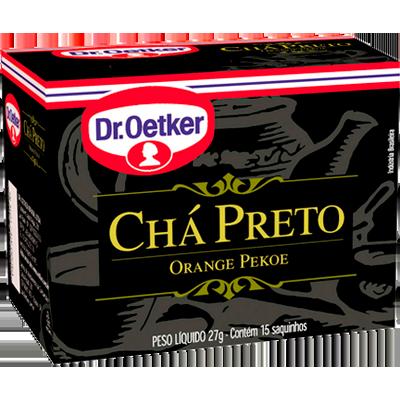 Chá preto 15 envelopes Dr. Oetker caixa CX