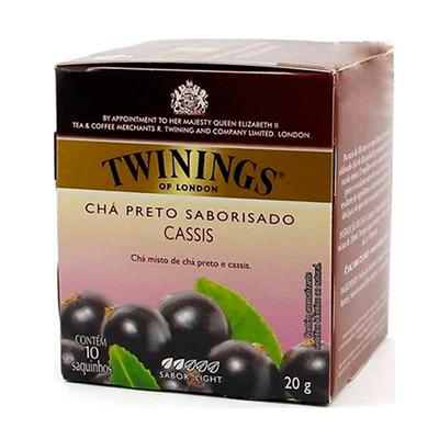 Chá preto cassis 10 envelopes Twinings caixa CX
