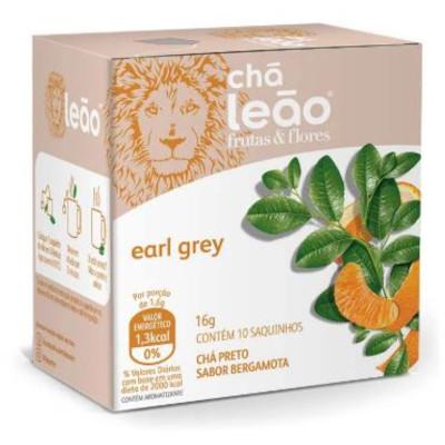Chá Preto com Bergamota Earl Grey 16g (10 sachês) Leão caixa CX
