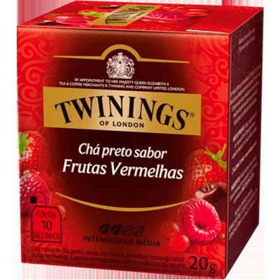 Chá Preto e Frutas Vermelhas 20g Twinings caixa CX