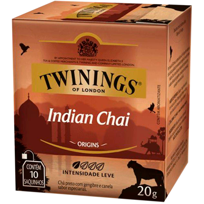 Chá Preto 20g Twinings/Indian Chai caixa CX