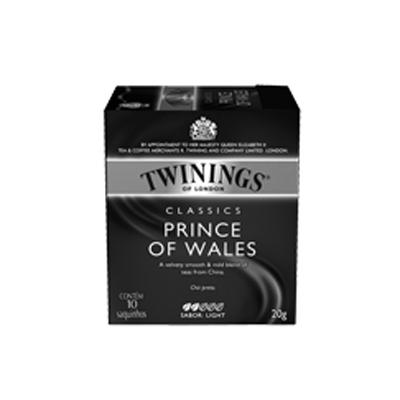 Chá preto prince wales 10 envelopes Twinings caixa CX