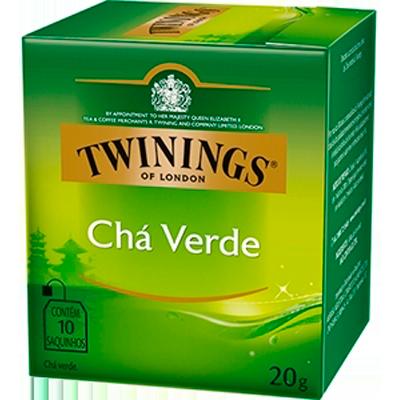 Chá verde 10 envelopes Twinings caixa CX