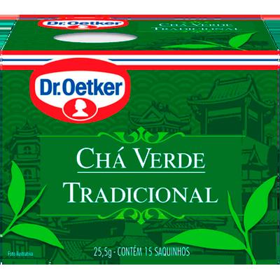 Chá verde 15 envelopes Dr. Oetker caixa CX