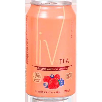 Chá verde com frutas vermelhas 350 ml LIV lata UN
