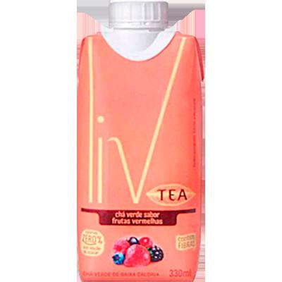 Chá verde com frutas vermelhas 330ml LIV Tetra Pak UN