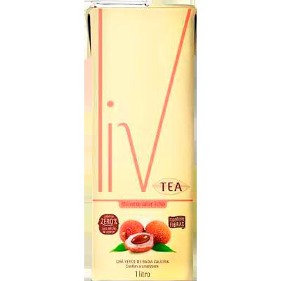 Chá verde com lichia 1Litro LIV Tetra Pak UN