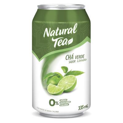 Chá verde com limão 335ml Natural Tea lata UN