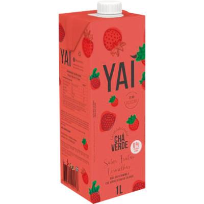 Chá Verde de Frutas Vermelhas 1Litro Yai tetra pak UN