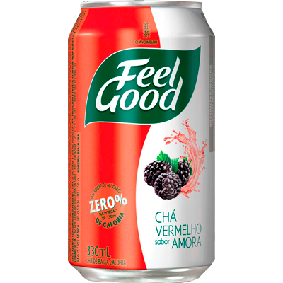 Chá vermelho com amora 330ml Feel Good lata UN