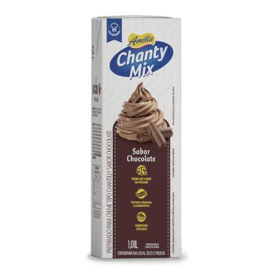 Chantilly Líquido sabor Chocolate 1,01Litro Chanty Mix/Amélia caixa UN