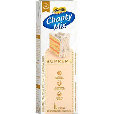 Chantilly líquido supreme 1Litro Amélia tetra pak UN