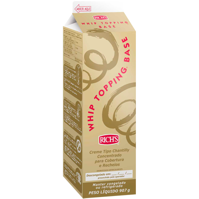 Chantilly líquido whip topping base 900g Richs Tetra Pak UN