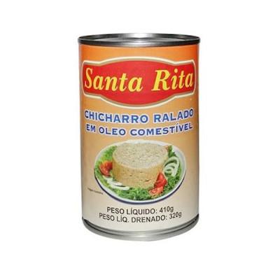 Chicharro ralado em óleo 410g Santa Rita lata UN