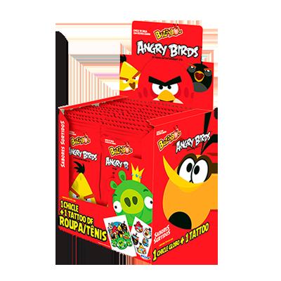 Chiclete Angry Birds 24 unidades Buzzy caixa CX