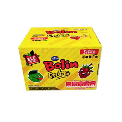 Chiclete Bolin Frutas 20 unidades de 9g Arcor caixa CX