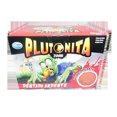 Chiclete dentada ardente 40 unidades Arcor Plutonita caixa CX