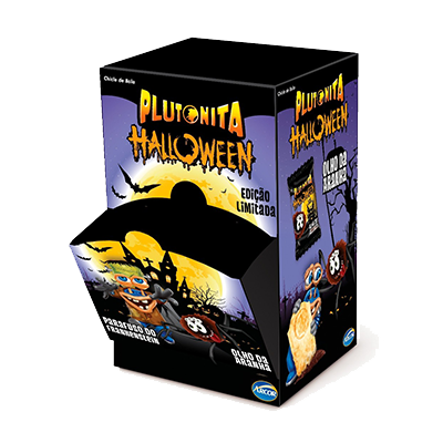 Chiclete halloween 50 unidades Arcor Plutonita caixa CX