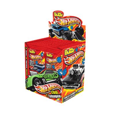 Chiclete  24 unidades Buzzy/Hot Wheels caixa CX