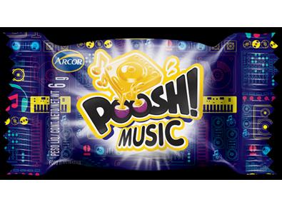 Chiclete Music 200g Arcor/Poosh caixa CX