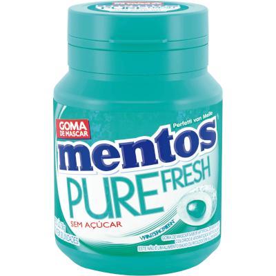 Chiclete Pure Fresh Wintergreen 56g Mentos pote UN