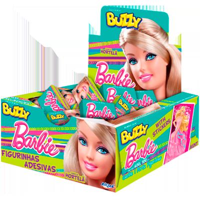 Chiclete sabor Hortelã 100 unidades Buzzy/Barbie caixa CX