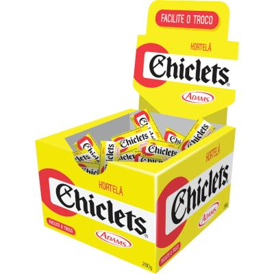 Chiclete sabor Hortelã Beat 100 unidades Chiclets/Adams caixa CX
