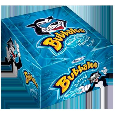 Chiclete sabor hortelã 60 unidades Bubbaloo caixa CX