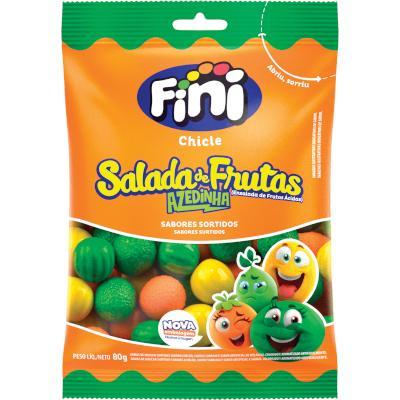 Chiclete sabor Salada de Frutas 80g Fini pacote PCT