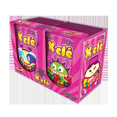 Chiclete sabor tutti frutti 24 unidades Xclé caixa CX