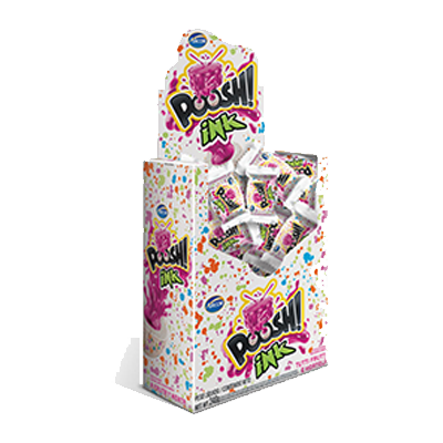 Chiclete sabor tutti frutti e hortelã 40 unidades Arcor Poosh caixa CX