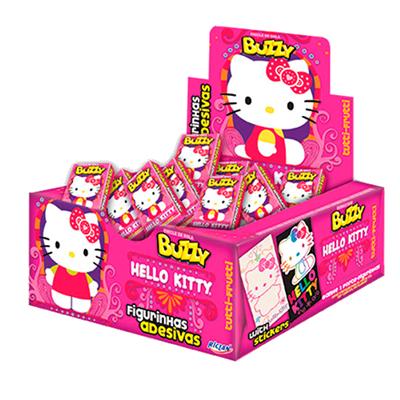 Chiclete sabor Tutti Frutti 100 unidades Buzzy/Hello Kitty caixa CX