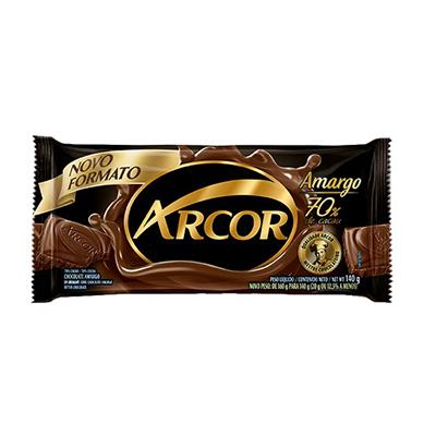 Chocolate 70% cacau amargo 120g Arcor  UN