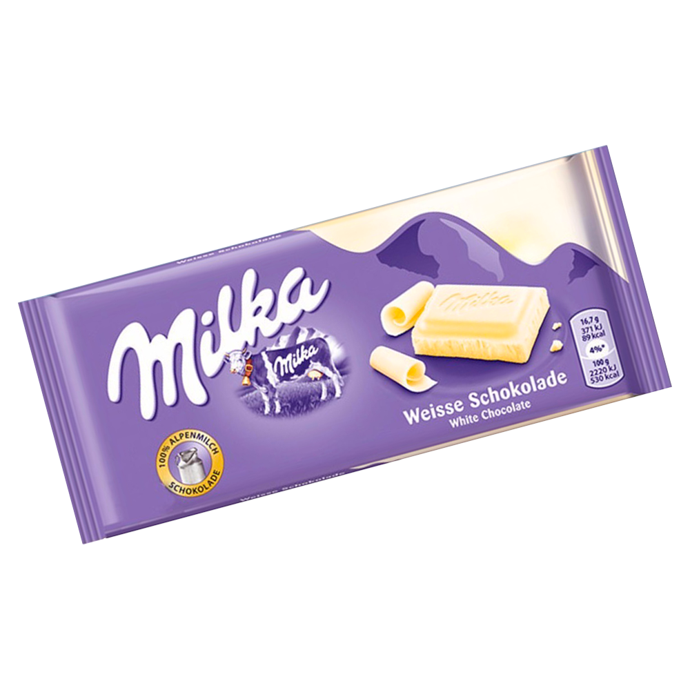 Chocolate Alpine White 100g Milka  UN