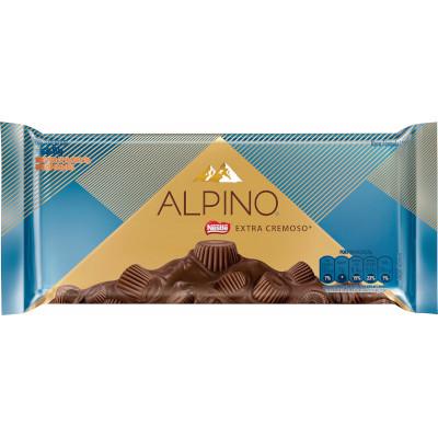 Chocolate alpino extra cremoso 90g Nestlé/Alpino unidade UN